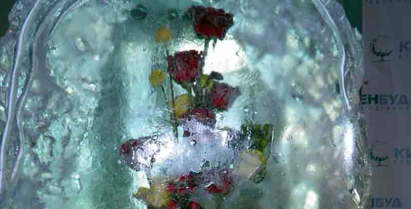 Ледово-цветочные скульптуры