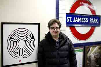 Лабиринты в лондонском метро от Марка Уоллингера