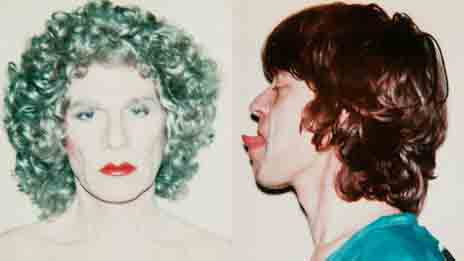 Warhol's 'self-portrait in drag' and Mick Jagger