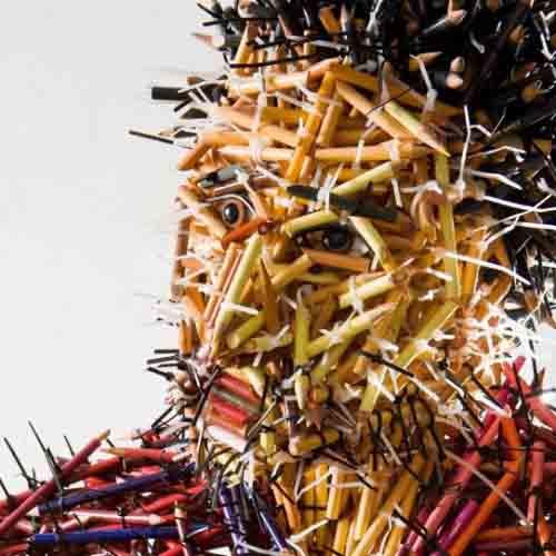 скульптуры из карандашей-2