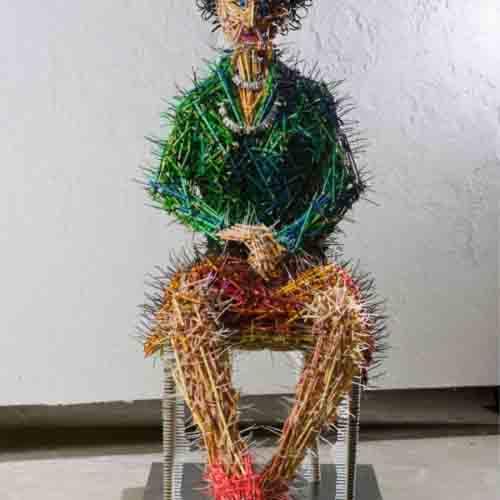 скульптуры из карандашей-4