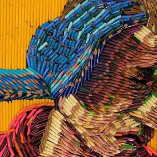 скульптуры из карандашей-8