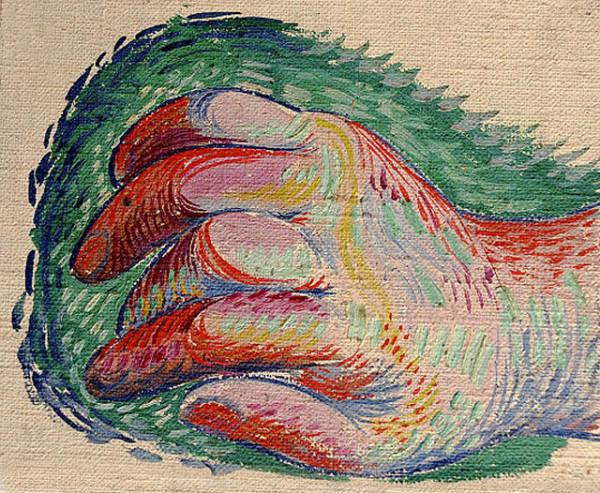 Пабло Пикассо. Рисунок руки.