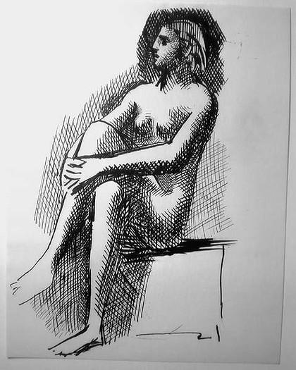 Пабло Пикассо. Рисунок женщины