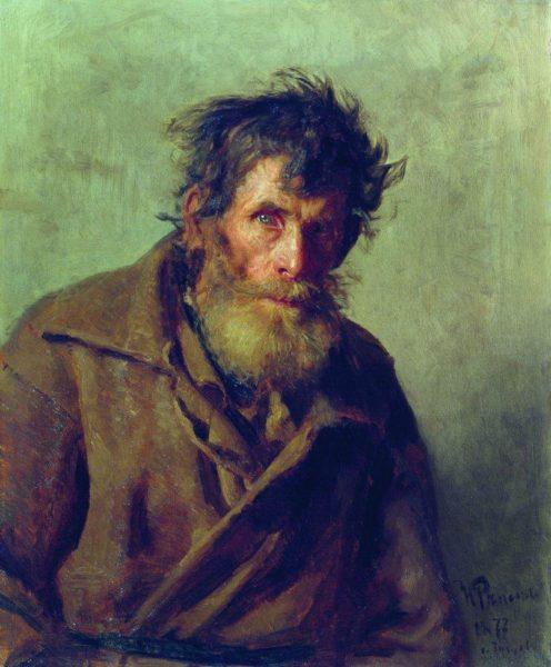 """Илья Репин """"Мужичок из робких"""""""