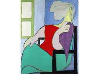 картина муза Пикассо Вальтер