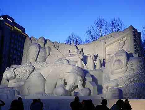Фестиваль ледяных скульптур Саппоро