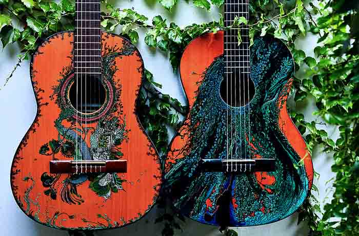 Ink_Illustrations_Guitars_1