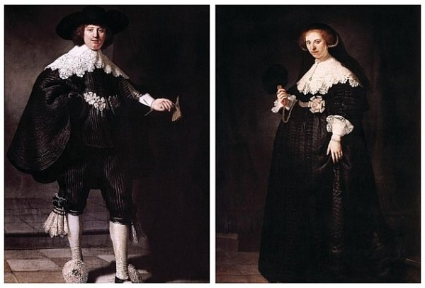 «Портрет Мартена Солманса» и «Портрет Опьен Коппит» Автор: Рембрандт