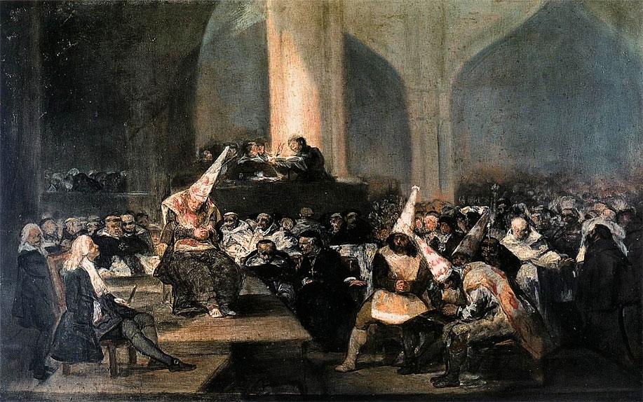 """Франсиско Гойя """"Трибунал инквизиции"""""""