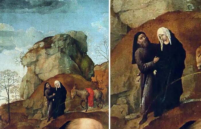 Мария и Иосиф на пути в Вифлеем хуго ван дер гус