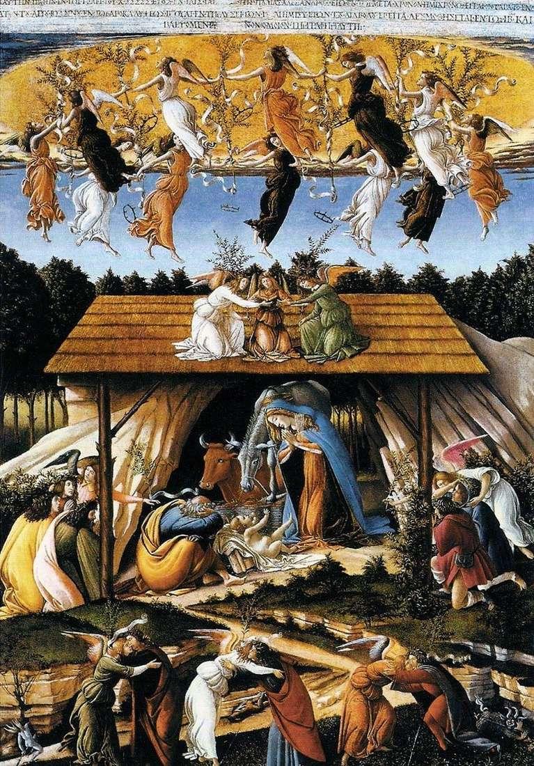 Рождение Христа Сандро Боттичелли